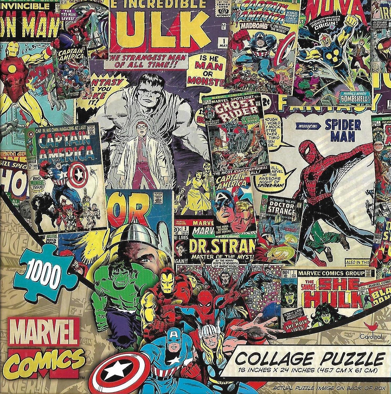 Amazon Marvel Comics Super Hero Collage Jigsaw Puzzle 1000