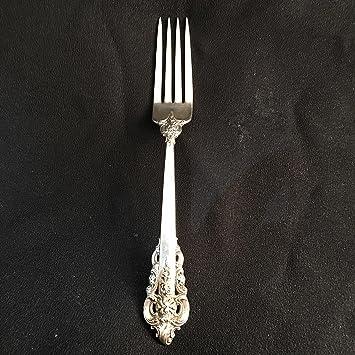 Wallace Grande barroco plata de ley tenedor de mesa (1): Amazon.es: Hogar