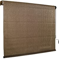 Coolaroo Outdoor Cordless Roller Shade 8ft by 6ft Feet Mocha