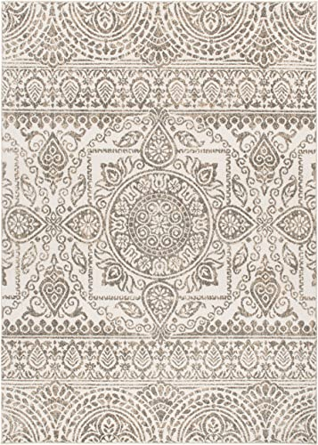 Mayberry Rugs Augusta Jaqueline Grey Area Rug, Grey, 5 x 8