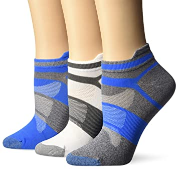 ASICS Quick Lyte – Único de la Mujer Tab Calcetines para Correr (3 Pack)