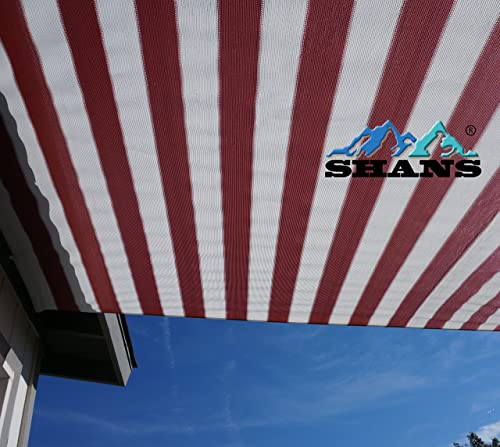 SHANS 90 UV Shade Sail DIY with Clips Free Maroon and White 12ft x 30ft