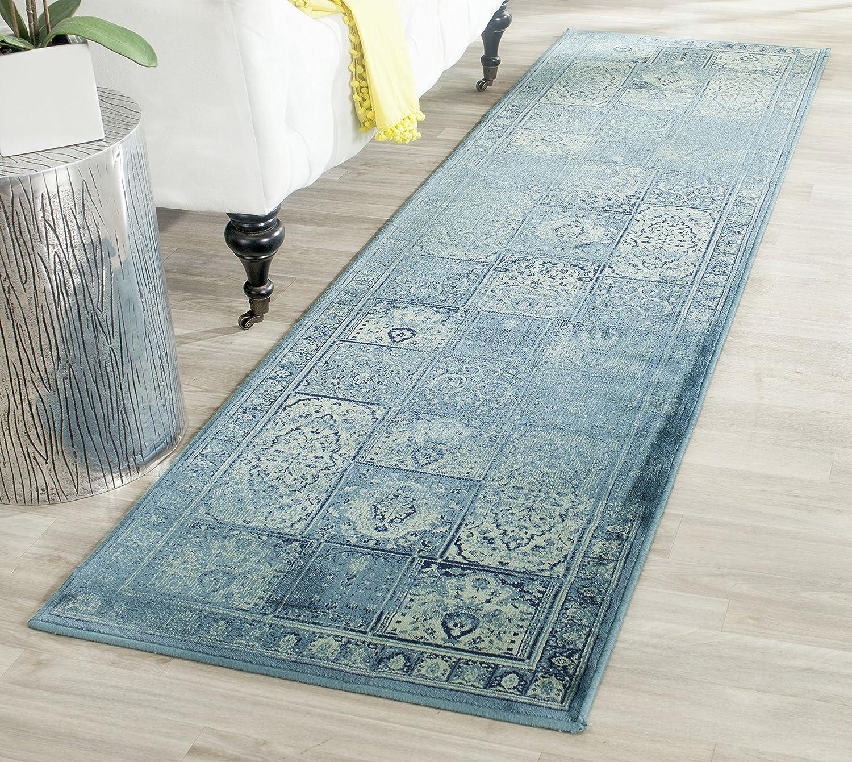 Safavieh Suri gewebter Teppich, VTG127-2220, Türkis   Mehrfarbig, 66 X 243  cm