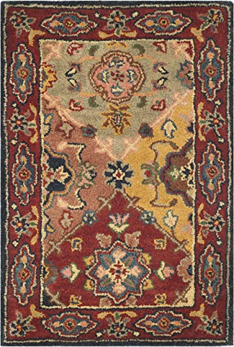 Safavieh Heritage Collection HG926A Handcrafted Traditional Oriental Red and Multi Wool Area Rug 2 x 3