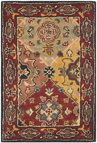 Safavieh Heritage Collection HG926A Handcrafted Traditional Oriental Red and Multi Wool Area Rug 2 3 x 4