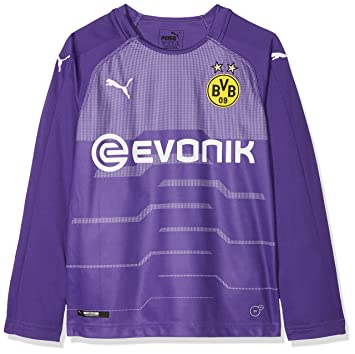 875238c04d338 Puma BVB LS GK Un t-Shirt Replica with EVONIK with Out Opel Logo Maillot