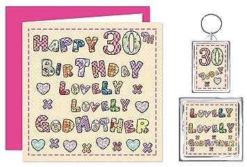 Godmother 30th Happy Birthday Gift Set