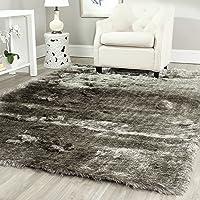 Safavieh Paris Shag Collection SG511-7575 Silver Polyester Area Rug (6' x 9')