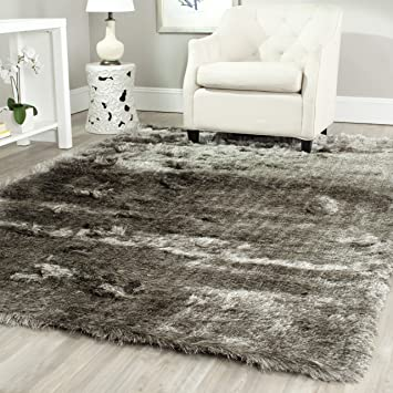 Safavieh California Shag Collection SG151 7575 Silver Area Rug (6u00277u0026quot; X