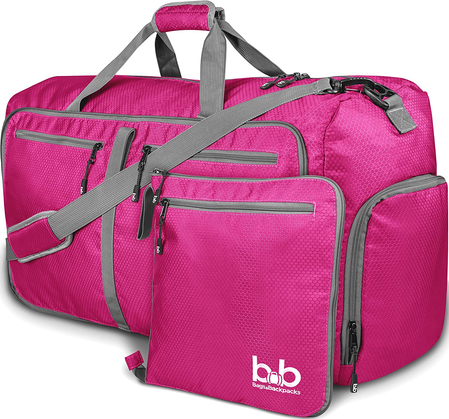 45d5251a345 Amazon.com | Extra Large Duffle Bag with Pockets - Travel Duffel Bag for  Women and Men (Pink) | Travel Duffels