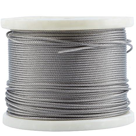 Cuerda de alambre de acero inoxidable 316-Stainless de 0,63 ...