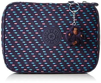 Kipling 100 Pens Pencil Cases, 21 cm, 1.5 liters, Multicolour (Blue Dash C)