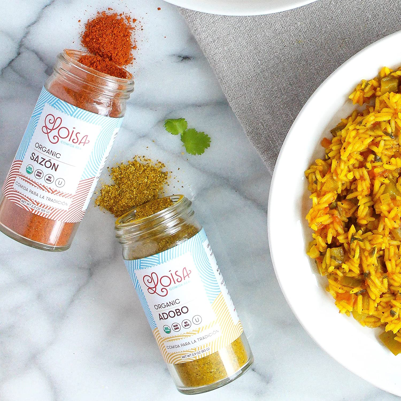 Amazon.com : Loisa Sazón & Adobo Seasoning Variety Pack, Contains 2 Adobo & 1 Sazón Seasonings, USDA Organic, Non-GMO, No-MSG, No Preservatives, ...