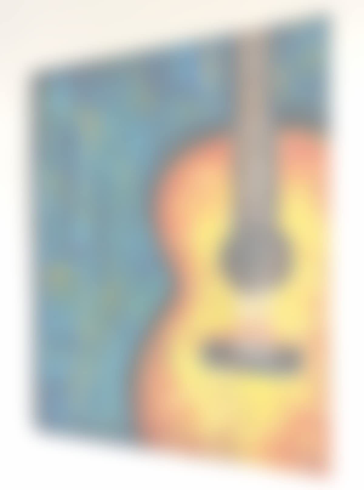 Amazon.com: Guitar painting on stretched canvas, Guitar abstract ...
