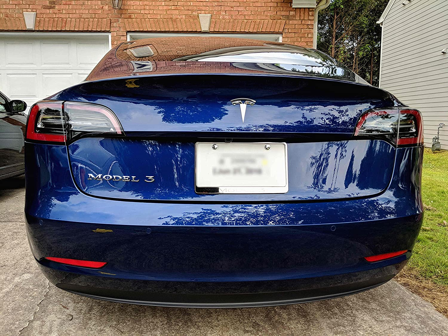 Tesla Model 3 Badge - Chrome