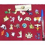 24 personnages différents Pokemon dans l'ensemble FIGURES CARTON 1-3 cm - pas un jouet - parfait pour les bas de Noël pour remplir Mini Monster Pokemon Pikachu GO Anime Manga Comic thematys®