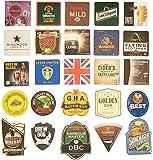 Pub paraphenalia traditionnel bière Tapis de sol, multicolore, Lot de 25