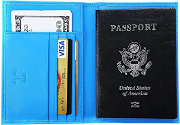 Unisex Leather Organiser Wallet Holder For Travel Passport Document Card Bifold
