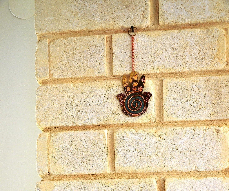 Amazon.com: Hamsa,Brass, Metal Wall Art ,Israeli Art, evil eye Hamsa ...