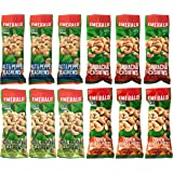Emerald Snack Nuts Cashew Assorted Variety Pack of 12 - 1.25 Ounce Bags Dill Pickle, Salt & Pepper, Roasted and Salted, Sriracha