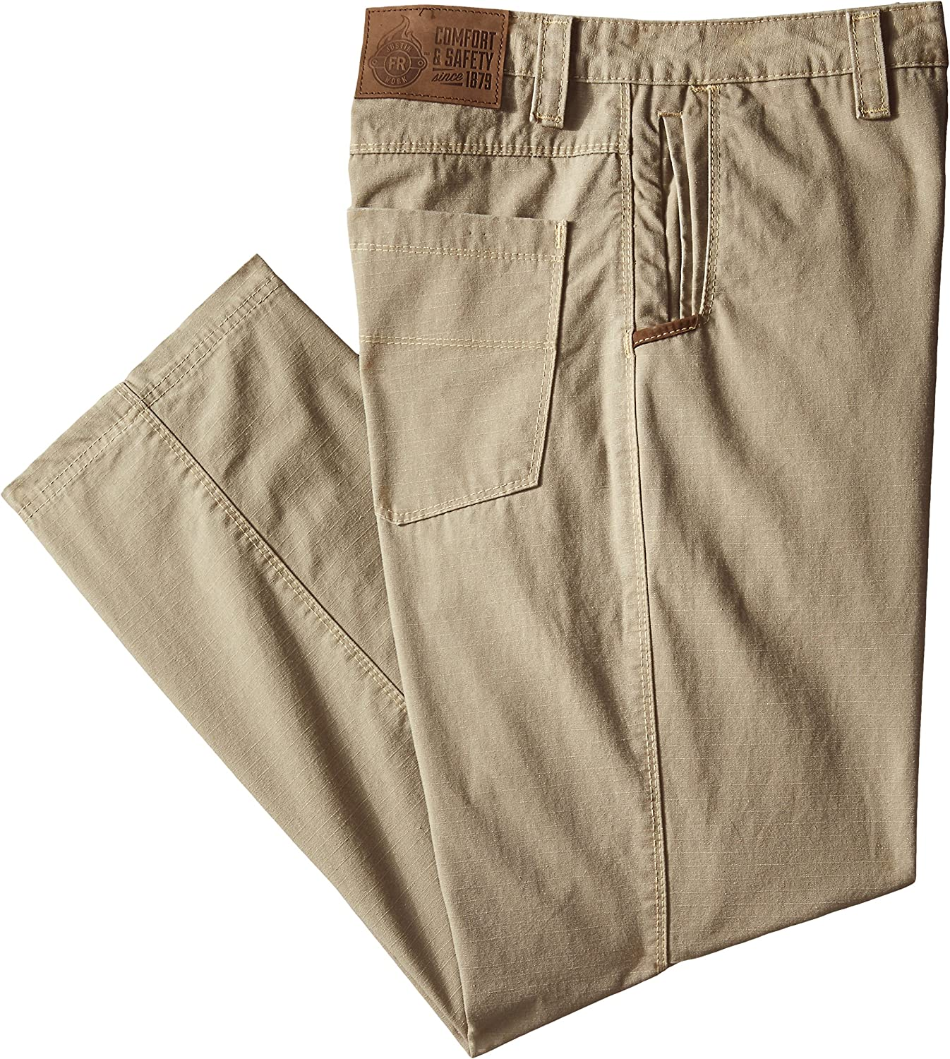 Justin FR Mens Big and Tall Flame Resistant Performance Fit Weather Washed Ripstop Pant