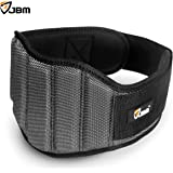 JBM Weight Lifting Belt 3 Size - Gym, Fitness, Crossfit, Bodybuilding Workout Belt Olympic Lifting Wraps Weighted Dip Belt for Squats Lunges Deadlift Thrusters, Adjustable with buckle