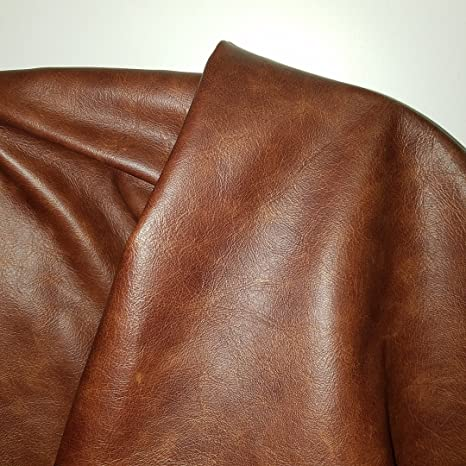 LARGE ORANGE LEATHER FULL 40 SQ FT HIDE QUALITY TOP GRAIN GENUINE LEATHER