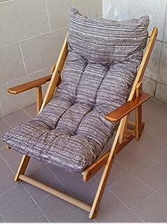 fauteuil relax en bois pliable avec coussin rembourr gris taupe - Fauteuil Relax Jardin Pliable