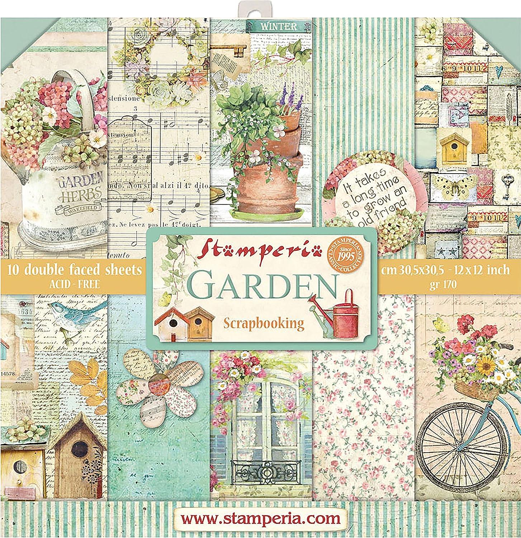 Stamperia Intl Scrapbooking Paper, Multi-Colored 10 Pack