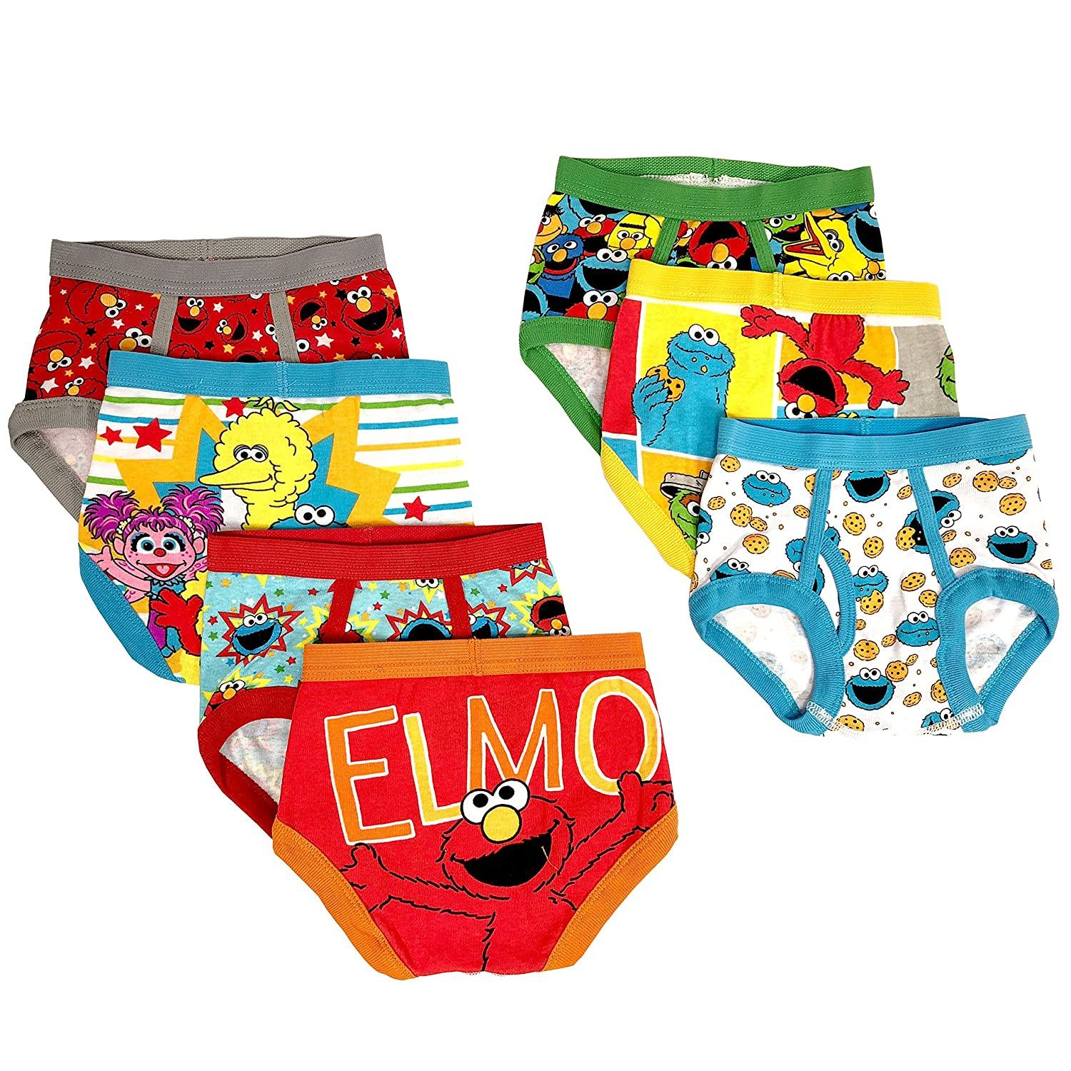 Sesame Street Boys Toddler Boys Character Toddler 7 Pk Underwear Assorted 4T Handcraft Boys 2-7 TBUP4360