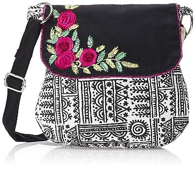 pick pocket Women's Sling Bag Black (Slsmalflowr733): Amazon.in ...