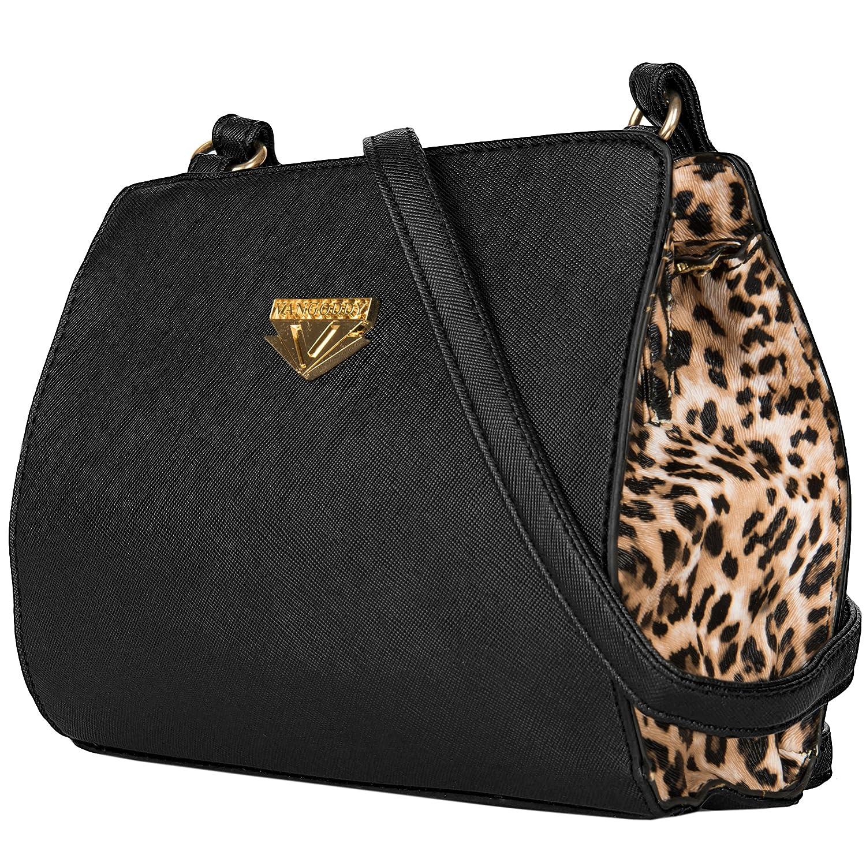 fa2e4b679a3a VanGoddy Arina Women's Small Leopard Crossbody Satchel Purse Bag ...