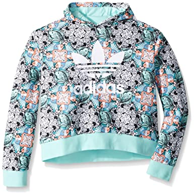 c8d2169176a Amazon.com  adidas Originals Girls  Zooanimal Print Hoodie  Clothing
