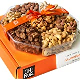 Oh! Nuts Holiday Gift Basket, 1LB Roasted Nut Variety Fresh Assortment Tray, Christmas Gourmet Food Prime Thanksgiving…