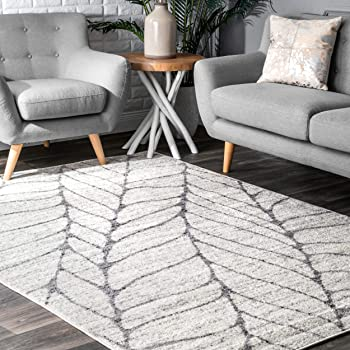 Amazon Com Nuloom Transitional Abstract Leaves Area Rugs