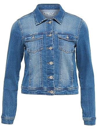 0e49340f3e2a ONLY Damen Jeansjacke Übergangsjacke Leichte Jacke (XS, Dunkelblau)