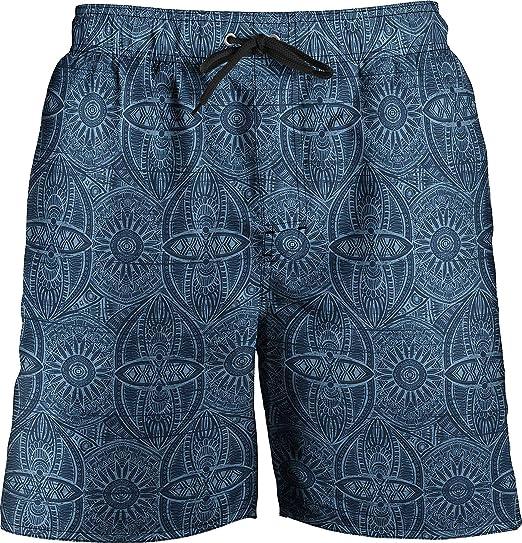 ff64788d4e Newport Blue Mens Tribal Print Swim Trunks X-Large Blue | Amazon.com