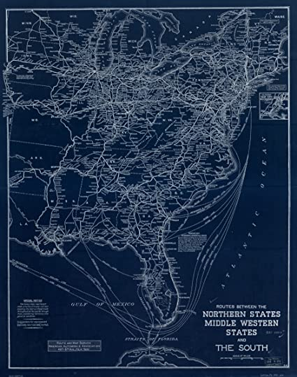Amazon.com: 18 x 24 Blueprint Style Reproduced Old Map of ... on road map western ma, massachusetts western ma, map of berkshires massachusetts,