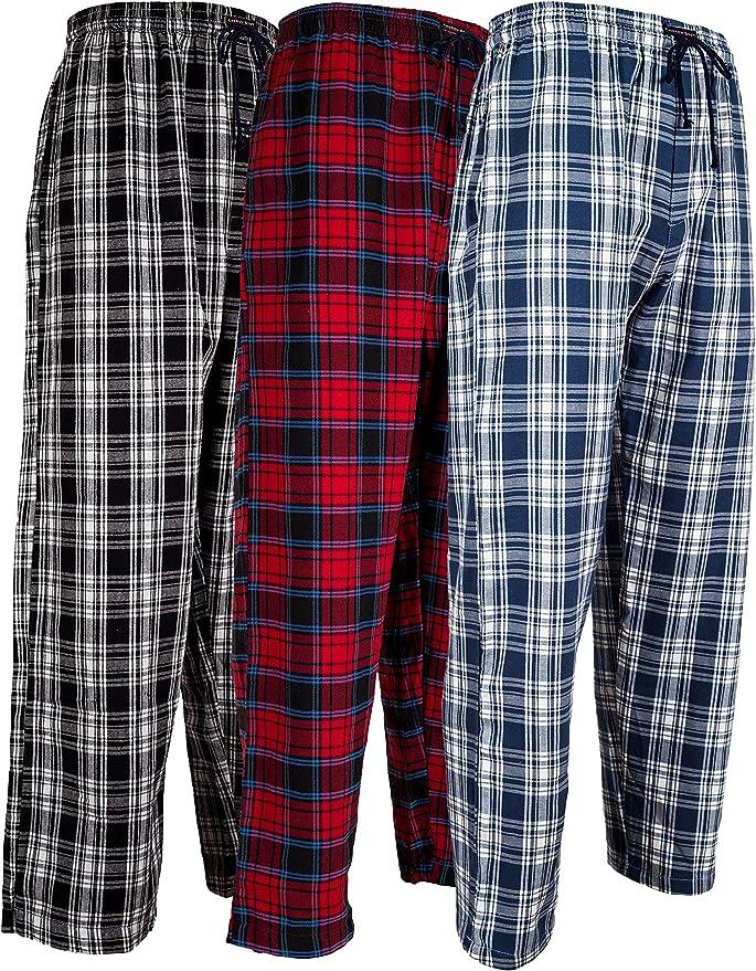 Andrew Scott De los Hombres Pack 3 Algodón Franela Polar Cepillo Pijama Sleep & Pantalones del Salón XXXXXX-Large Pack 3 - Franela clásico Surtido de Mantas: Amazon.es: Ropa y accesorios