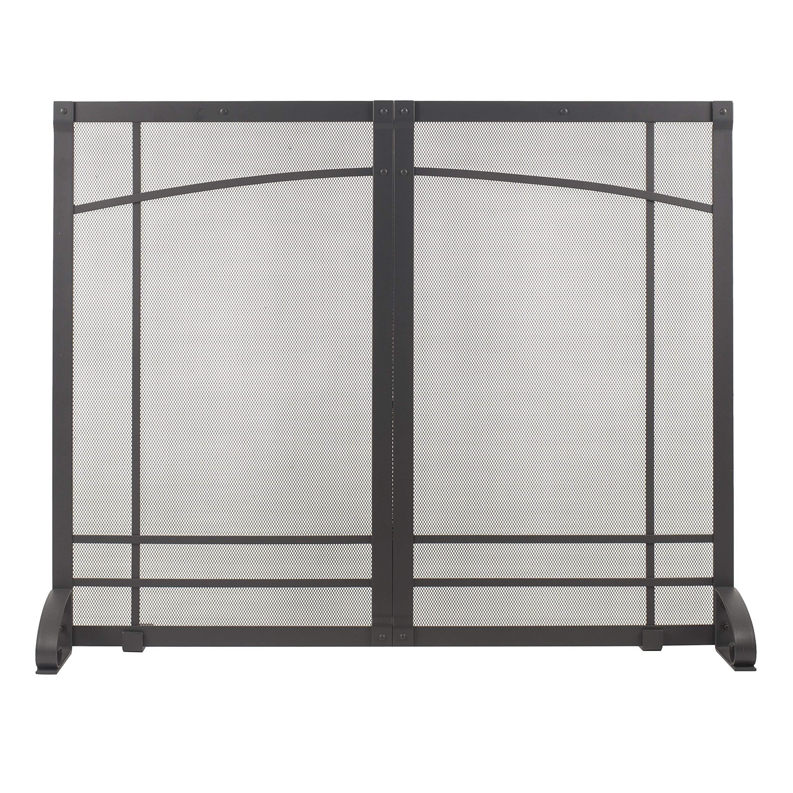 Pleasant Hearth Amherst Fireplace Screen, Iron Black by Pleasant Hearth