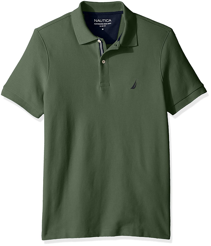 ノーティカMen 'sスリムフィット半袖ソリッドポロシャツ B06XWND1CG 3L|Pine Forest Pine Forest 3L