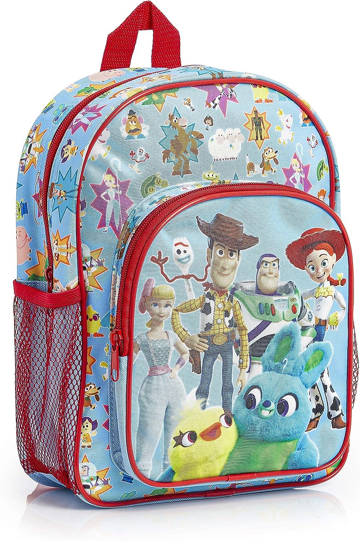 Disney Toy Story 4 Sac À Dos Enfant Avec Tous Les Jouets de Toy Story Woody Jessie Forky Buzz Ducky et Bunny - Petit Sac Cartable École Crèche Maternelle Primaire - Cadeau Fille Garçon dès 3 Ans
