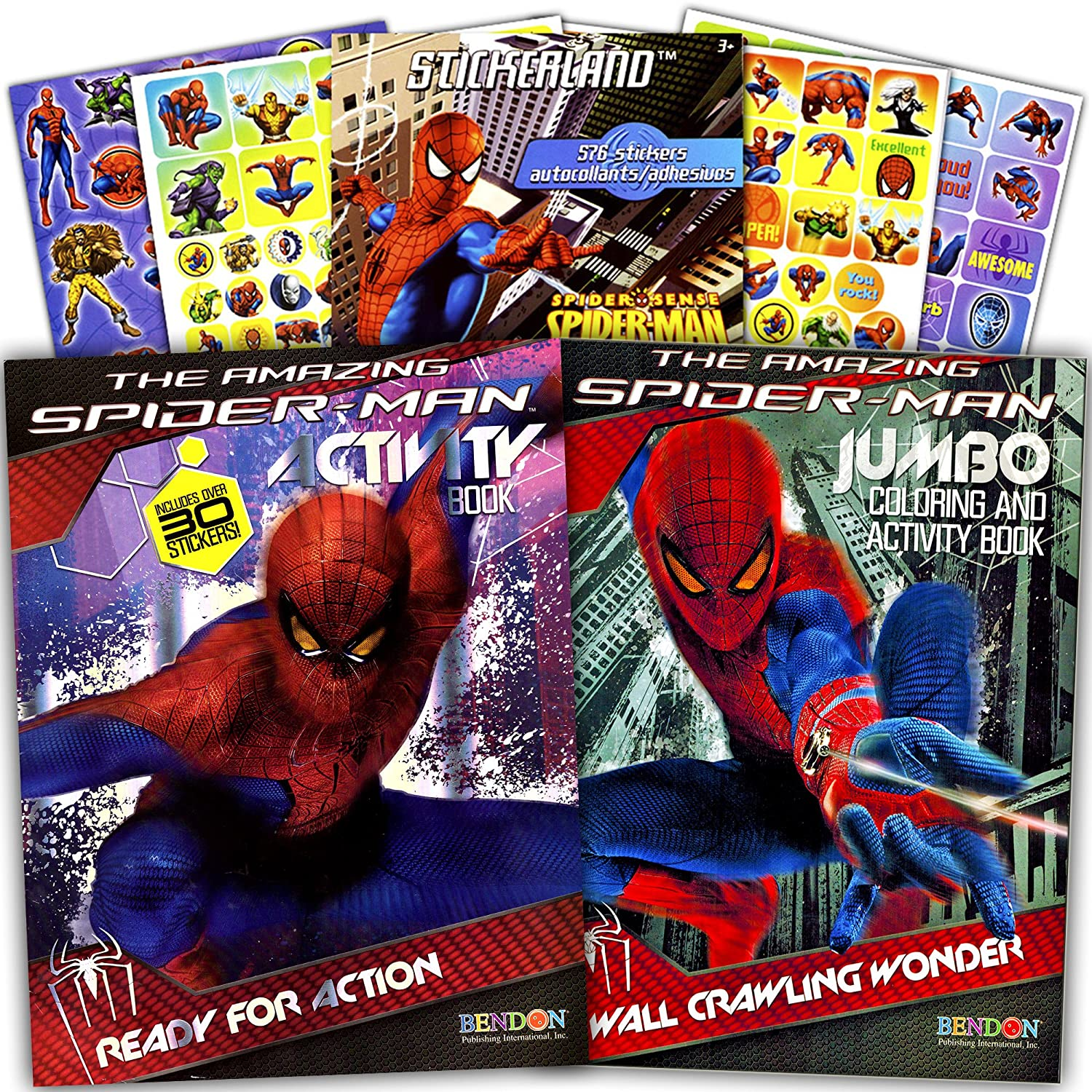 cheap marvel spiderman coloring and activity book set with