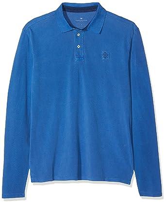 Tom Tailor Casual Langarm Poloshirt, Polo para Hombre, Azul ...