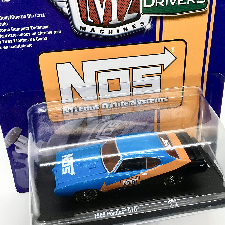 Amazon.com: M2 Machines 1969 Pontiac GTO (NOS Nitrous Oxide Systems) Blue/with Orange & Black Auto-Drivers Release 44 - Castline 2017 Special Edition 1:64 ...