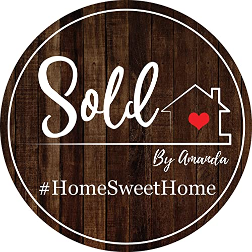 Amazon Com Real Estate Sold By Sign Circle Home Sweet Home Realtor Marketing Poster Real Estate Gifts For Agents Testimonial Props Rustic Banner Personalized Real Estate House Photo Prop 36x36 24x24 Handmade