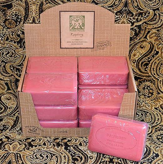Case of 12 Pre de Provence Raspberry Scent 250 gram shea butter extra large soap bars