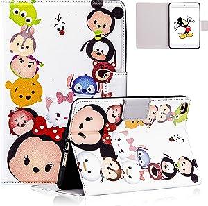 Besoar for iPad Mini 5/4/3/2/1 Case, Minnie Family Cartoon Cute 3D Leather Silicone Design Designer Character Fun Fun Kawaii Cover, Girls Women Kids Boys Cases for iPad Mini 1 2 3 4 5