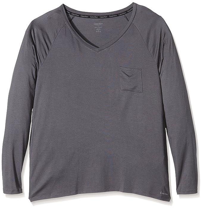 Calvin Klein underwear L/S PJ TOP - Ropa interior para mujer, color ashford