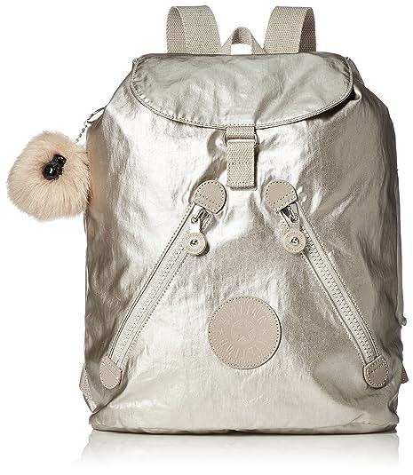 Kipling Fundamental, Mochila para Mujer, Plateado (Silver Beige), 42x42x16.5 cm: Amazon.es: Zapatos y complementos